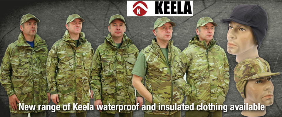 Keela Military Clothing now in stock.