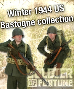 Winter 1944 M43 clothing and equipment Bastogne.