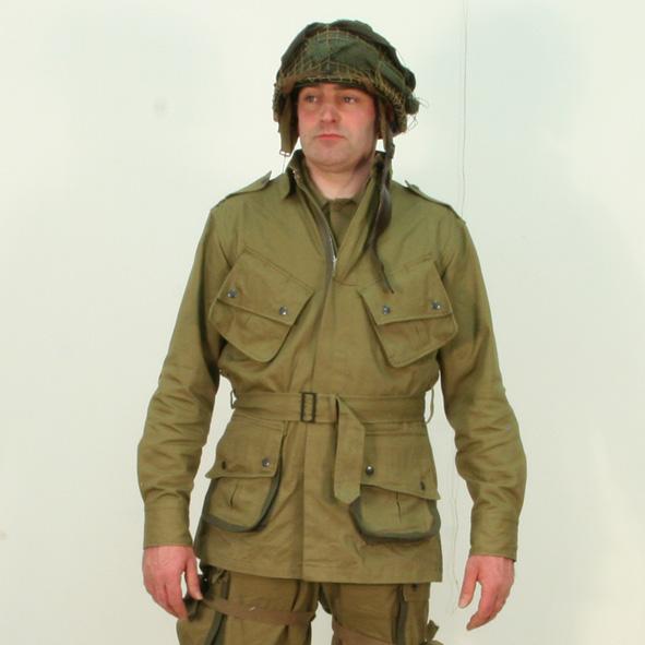 Us Ww2 M42 Jump Jacket Reinforced By Kay Canvas