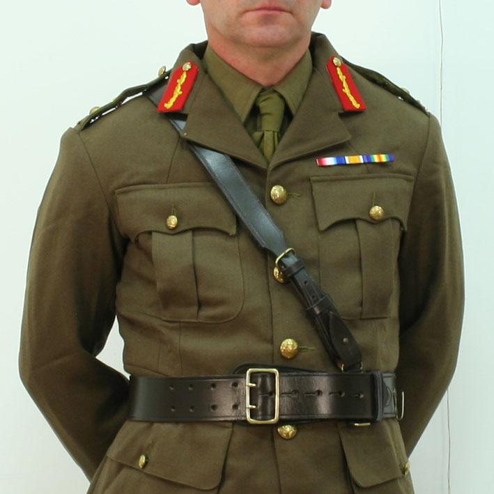 British Officers Sam Browne Belt And Cross Strap
