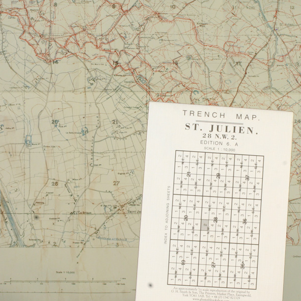 WW1 Trench Map St Julien 28 NW 2
