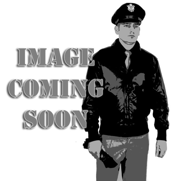 German Black Leather Belt Loop with Silver D Ring