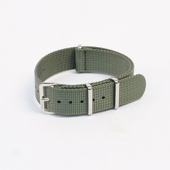 210742a8795 MWC 18mm NATO Watch Strap Grey Green
