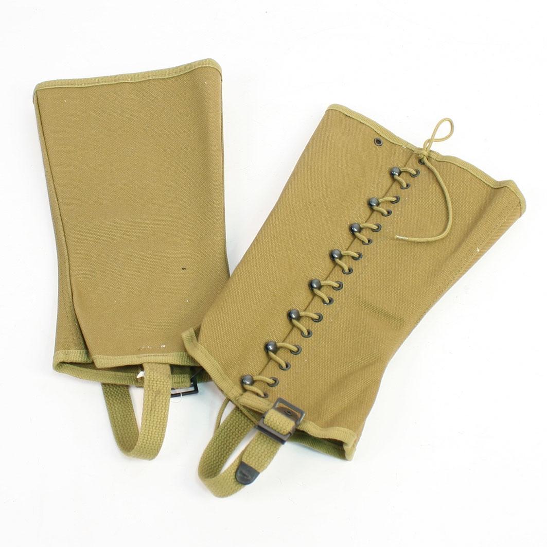 Replica WWII US Army M1938 Canvas Gaiter Leggings Feet Wear US Size